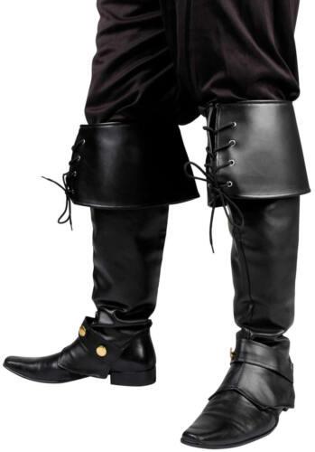 Stivali Gambali Ghette Stivali Antipioggia Pirata Nero Marrone Carnevale