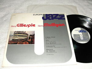Dizzy-Gillespie-amp-Gerry-Mulligan-034-Europa-Jazz-034-1981-Jazz-LP-VG-Italy-Press