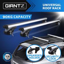 Giantz Universal Car Top Roof Rack Rail Cross Bar Aluminum Alloy Lockable 1350MM