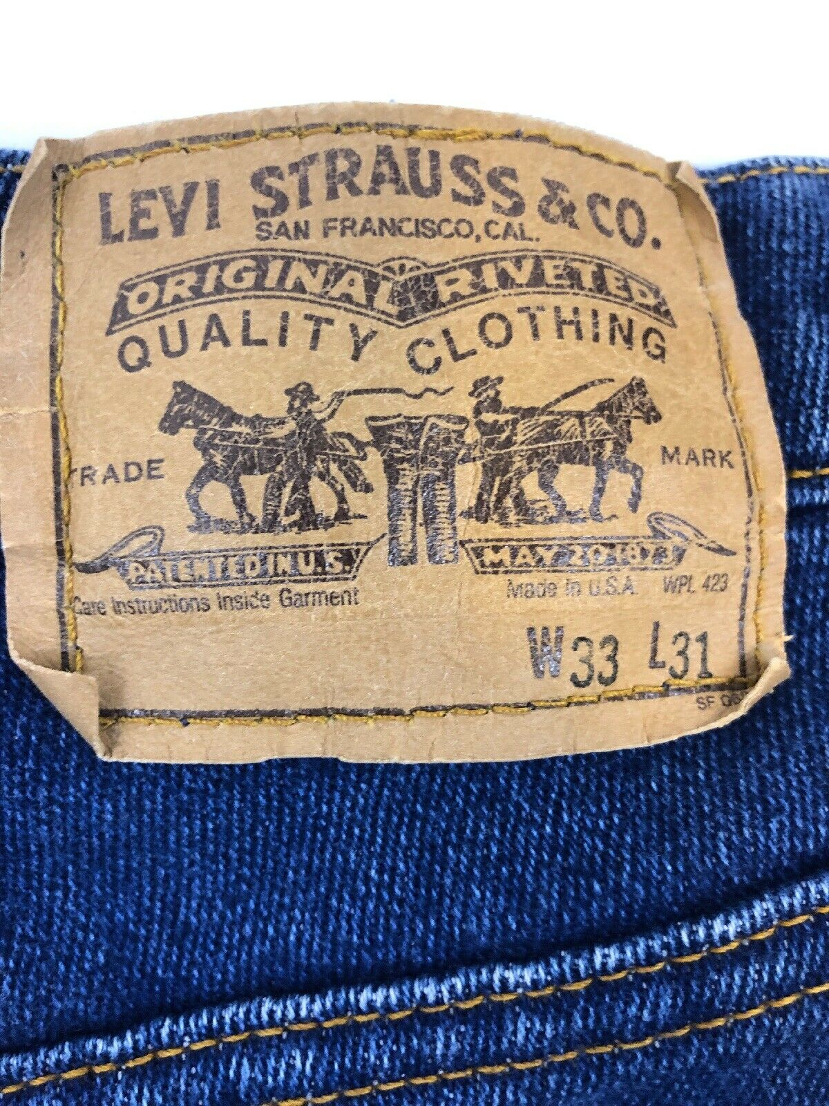 Vintage Levis 508 33X29 Made In USA - image 3