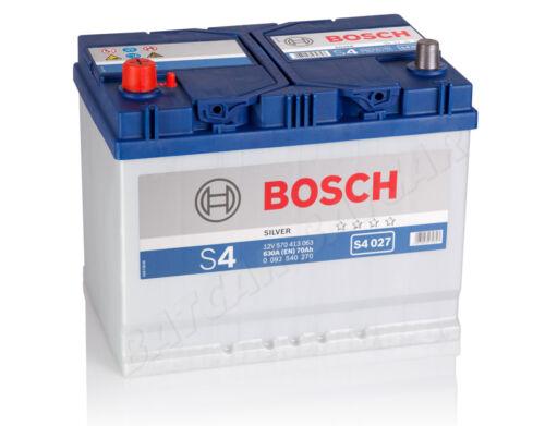 Autobatterie BOSCH  12V 70Ah 630 A//EN S4 027 70 Ah TOP ANGEBOT SOFORT /& NEU
