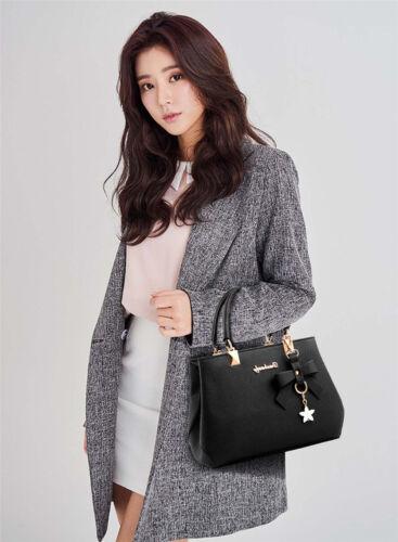 Women PU Leather Handbag Shoulder Messenger Satchel Tote Crossbody Bags Purse 1P