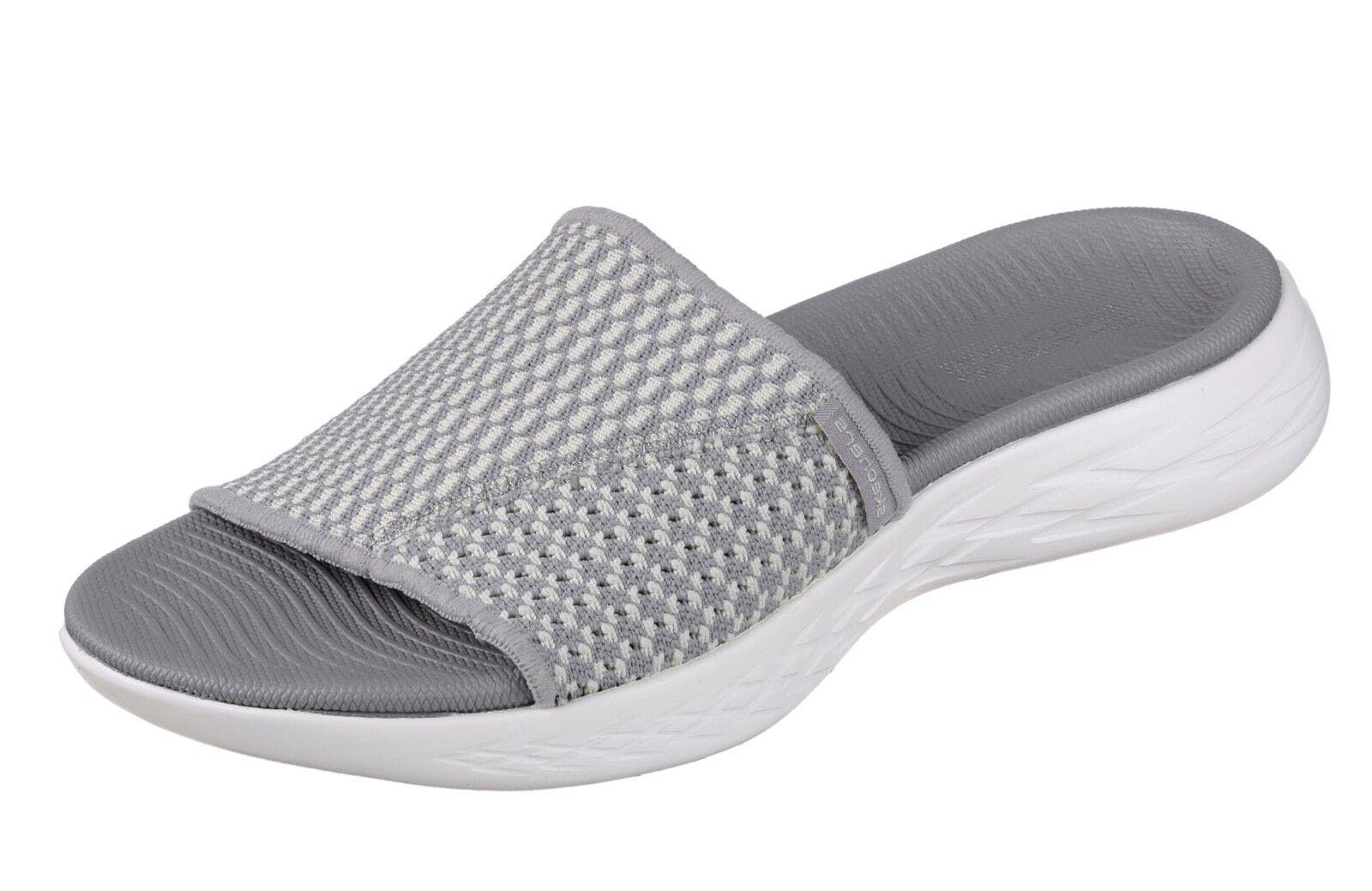 Skechers NEW On The Go 600  Nitto gris comfort slides sandals flip flops 3-8