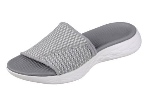Skechers NEW On The Go 600  Nitto grey comfort slides sandals flip flops 3-8