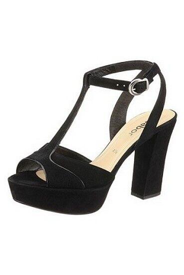 GABOR Sandalette Gr.7 (40,5) NEU Leder Slingbacks Schwarz Damen Schuhe Pumps