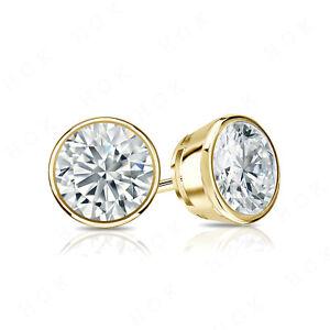 14K-YELLOW-GOLD-FINISH-2-CARAT-DIAMOND-ROUND-CUT-STUD-EARRINGS