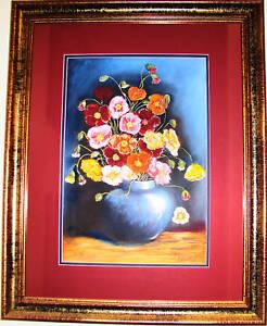 Australian-Respected-Artist-Brenda-Roberton-pastel-titled-039-Flowers-039