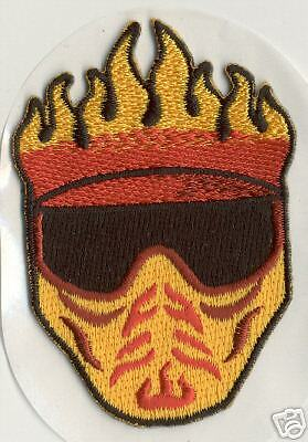 Paintball Flaming Hell Masque Patch Autocollant