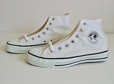 Rare Vintage Anaconda Shoes Converse All Star Chuck Taylor USA Hi Top White 7.5 | eBay