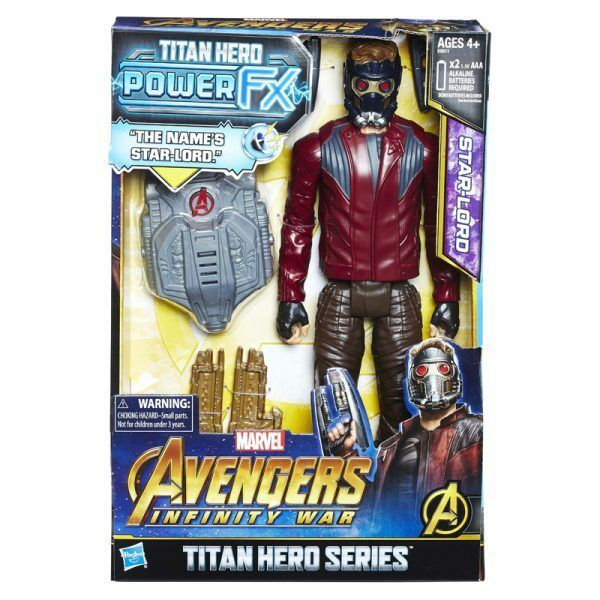 "HASBRO MARVEL AVENGERS 3 INFINITY WAR 12"" TITAN HERO POWER FX STAR LORD FIGURE"