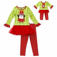 Dollie & Me Girl 5-14 And 18 Doll Matching Penguin Dress Outfit American Girl