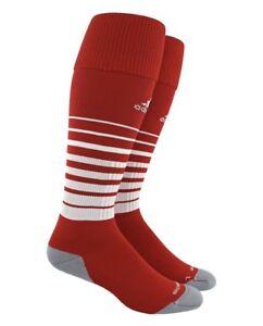 6a45cbf4790e ADIDAS Team Speed OTC Soccer Socks Red White NEW Youth Mens S 13-4 M ...