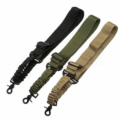 Tactical 1 Signal Point Rifle Gun Strap Sling Holder Elastic Bungee Snap Hook