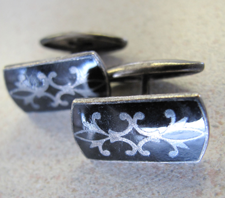 Soviet vintage sterling silver cufflinks Boutons de manchette Russian Natural agate cufflinks Sterling cufflinks,Russian silver jewelry