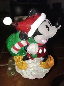 Disney-Mickey-Mouse-Santa-Claus-Night-Light-Lite-Plastic-Christmas-Hat