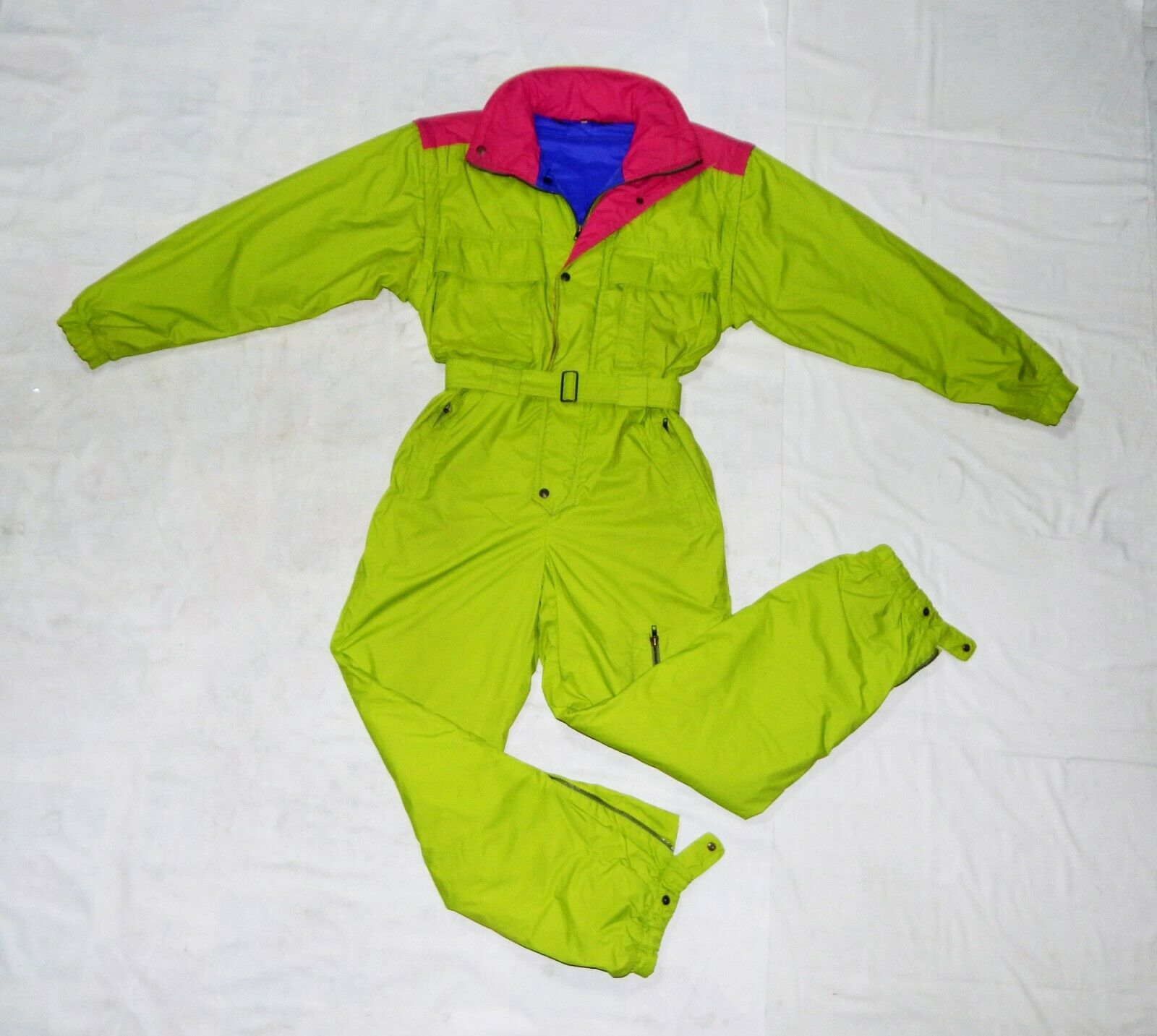 TONINI Ski Tech VTG 90s Mens All in One Thermal Ski Suit,L,IT50,UK40,Grün