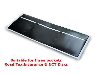 1 x Car Van Road Tax// Insurance// NCT Disc Holder Black New Wallet Permit