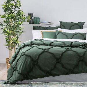 Renee-Taylor-Moroccan-100-Cotton-Chenille-Tufted-Quilt-Cover-Set