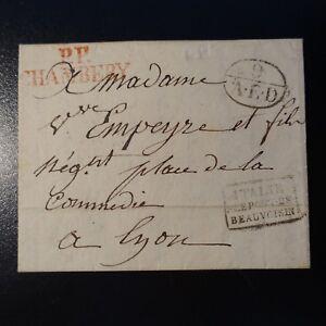 1830-LETTRE-COVER-MARQUE-POSTALE-ITALIE-PAR-LE-PONT-DE-BEAUVOISIN-PP-CHAMBERY