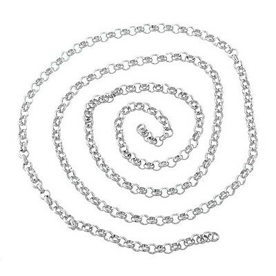 2M Stainless Steel Chains Silver Tone For Necklace Bracelet
