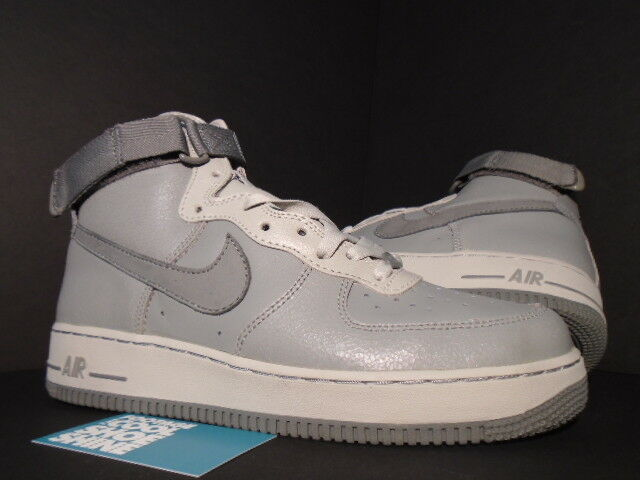 2004 Nike Air Force 1 High Book of ones by NIKE gris doux Sterling Noir Nouveau 9.5