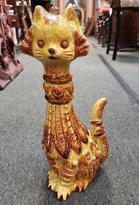 Mid-Century-Napcoware-Ceramic-Cat-Sculpture