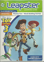 Leapfrog Leapster Learning Game Toy Story 3 Reading 4-7 2010