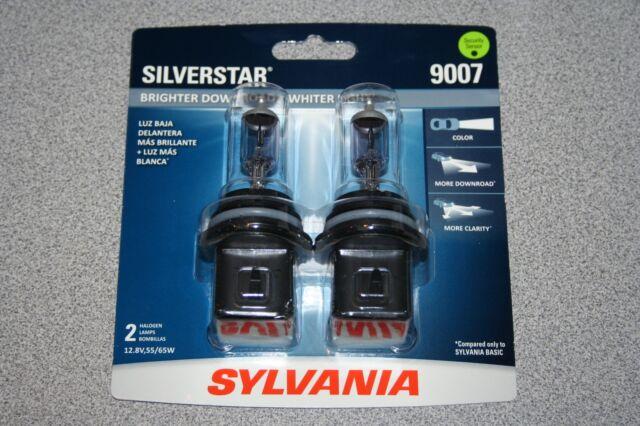 Sylvania Silverstar 9007 Pair Set High Performance Headlight Bulbs NEW