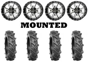 Kit 4 BKT AT 171 Tires 30x9-14 on Frontline 556 Machined Wheels H700