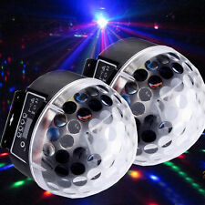 2X Disco Stage Lighting RGB Crystal Magic Ball Effect Light DMX512 Digital LED