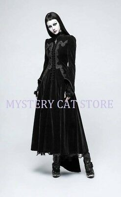 M Black Velvet  Bell Sleeve Gothic Top /'The Dark Angel/' NEW L S