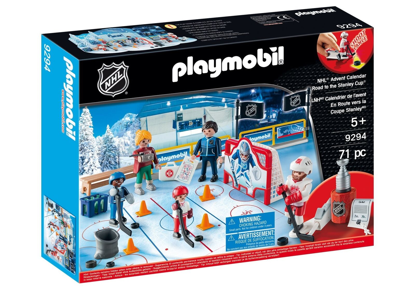 PLAYMOBIL® NHL Advent Calendar-Road to The Cup Playset, Multicolor