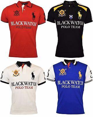 ***BIG & TALL*** Ralph Lauren Polo Men's S/S Blackwatch Mesh Polo Shirt   eBay