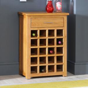 Image Is Loading London Solid Oak Wine Rack 1 Drawer 20