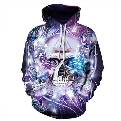 3D Space Galaxy Wolf Graphics Sweatshirt Jacket Pullover Hoodie Sweater Unisex