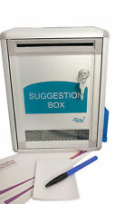 Aluminium suggestion box - Charity box. Donation box - with lock and 2 keys