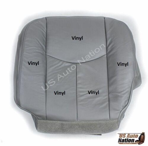 2003 2004 2005 2006 GMC Yukon Driver Passener Bottom VINYL Seat Cover Gray 922