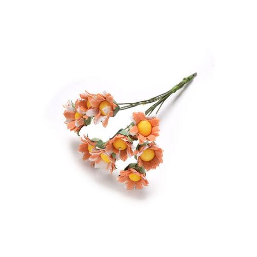 10Pcs Mini Daisy Artificial Flowers Bouquet Scrapbooking Flower DIY  YNWß