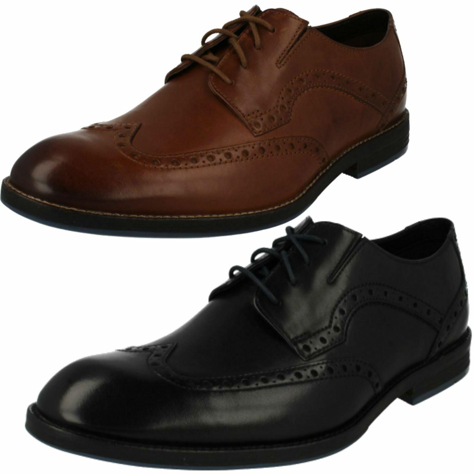 Clarks pour Hommes Habillé à Lacets Cuir Élégante Travail Chaussures Brogues