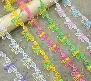 Vestido de boda 2 metros Mariposa Flores bordado de encaje de corte Vestido Ropa Accesorios