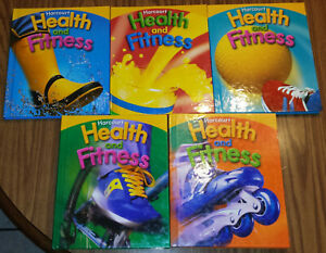 Harcourt-Health-and-Fitness-Grades-1-2-3-4-5-Lot-5-Elementary-School-Textbooks