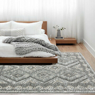 Moroccan Grey Rug Quality Soft Carved