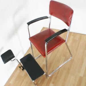 50er 60er jahre friseur stuhl relax chair vintage design sessel loft stahlrohr ebay. Black Bedroom Furniture Sets. Home Design Ideas
