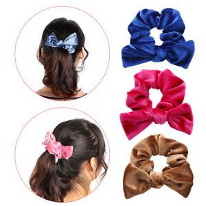 Holder-Velvet-Scrunchies-Bow-Ties-Bowknot-Hair-Ropes-Elastic-Hair-Bands