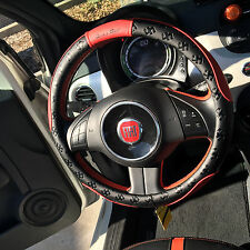 """New 15.25"""" Steering Wheel Cover Black & Red PVC Leather 51004L Large Audi Fiat"""