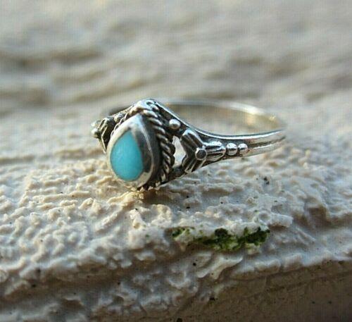 Anmutiger Ethno Bambini? anello in stile indiano argento agata 16 mm VINTAGE 14