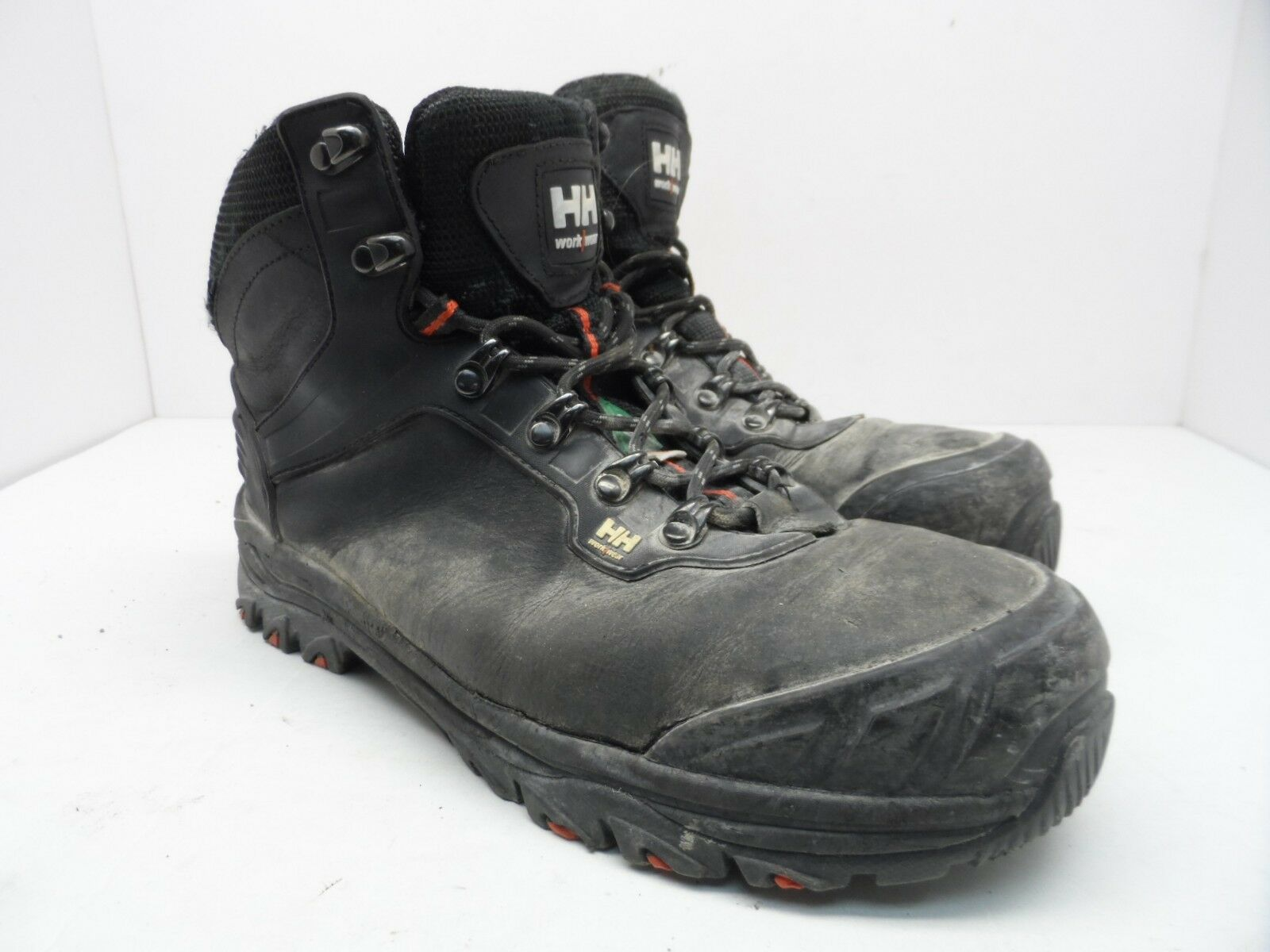 81110e4976 HELLY HANSEN Men s Composite Toe Composite Plate Leather Work Work Work  Boots Black 7.5M b1b855