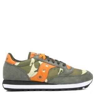 SAUCONY-Sneakers-UOMO-Jazz-Original-green-camo-e-arancione