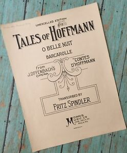 Barcarolle The Opera And I >> Tales Of Hoffmann O Belle Nuit Barcarolle J Offenbagh S Opera Sheet