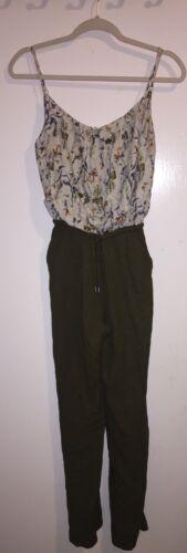 Floral Pantalone Autunno Small Romper Pimkie pantaloni oliva zqTtUt